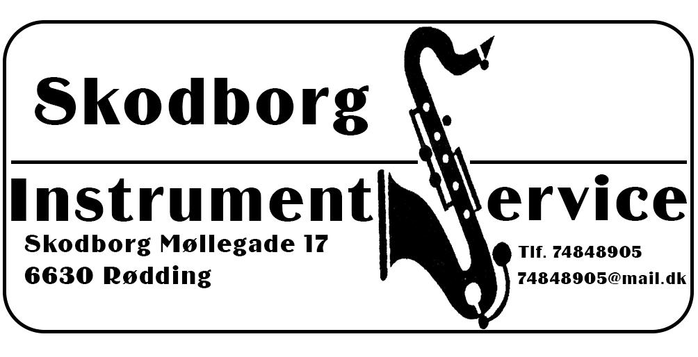 Skodborg instrument service Logo-visitkort